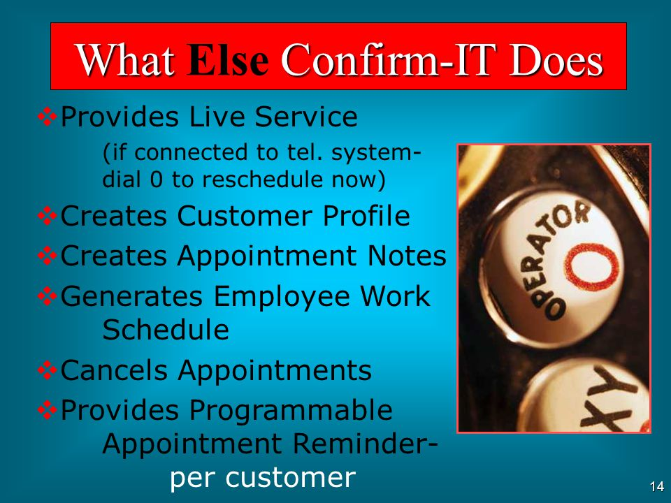 13 Contacts Inactive Customers What Confirm-IT Does