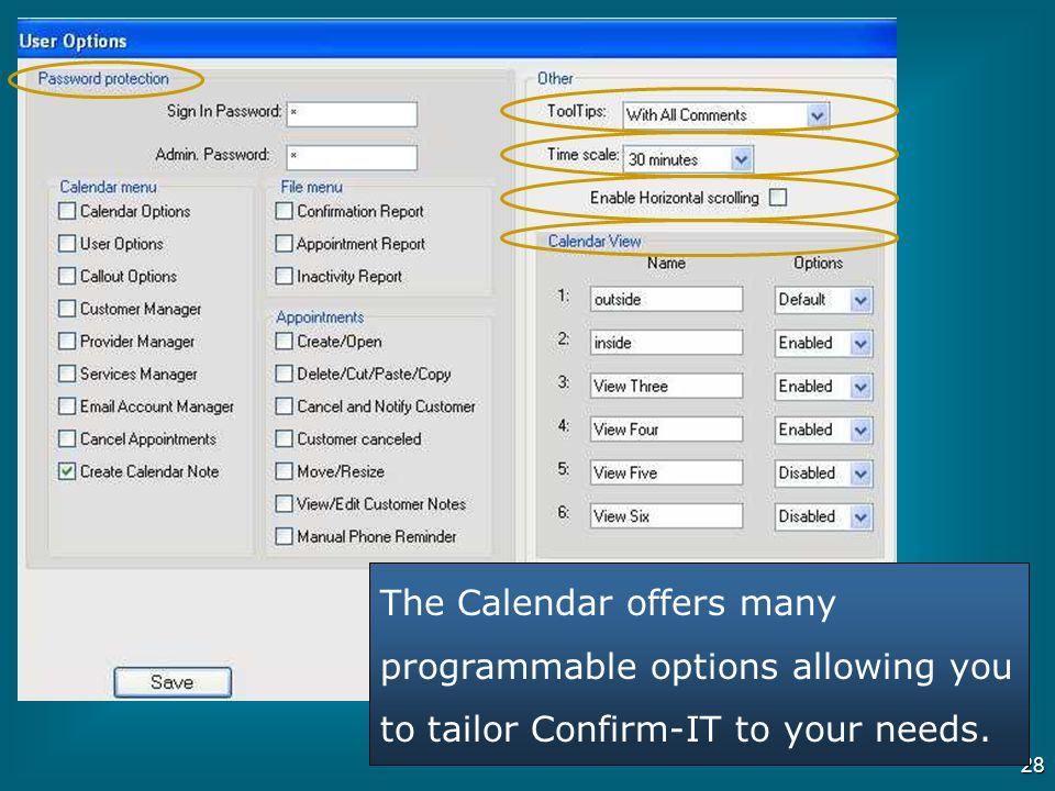 27 The Customer Manager database stores all of the important information about your customers Click on the Advanced Tab for more features The Re-Sched