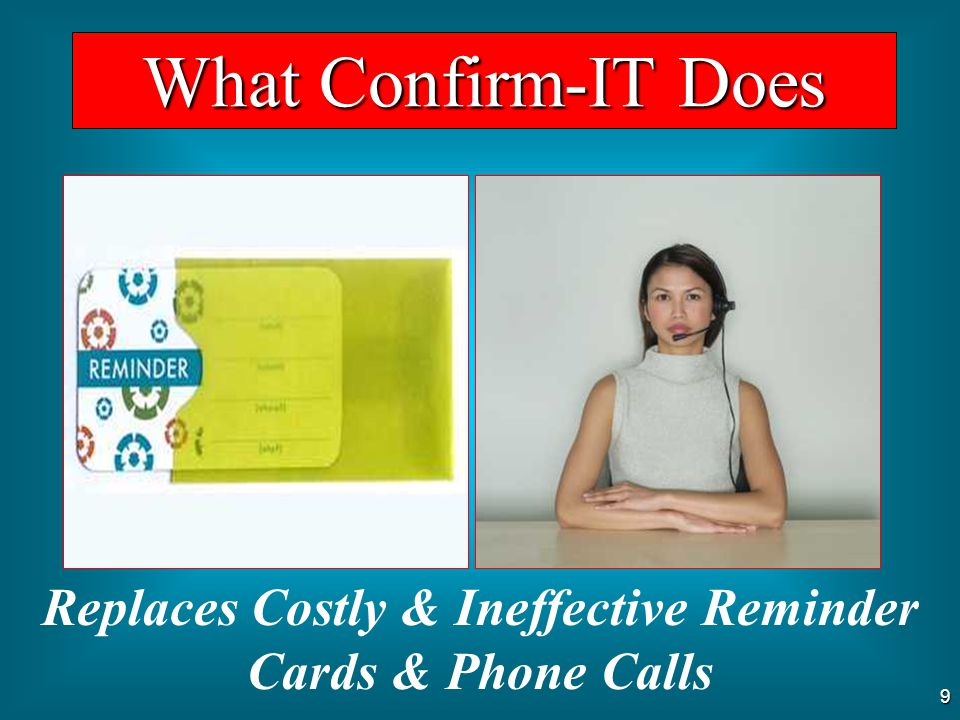 8 Provides a Working Calendar What Confirm-IT Does