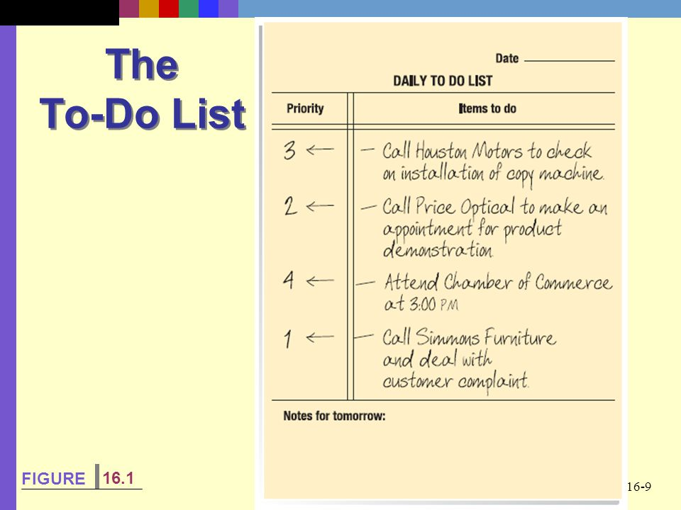 16-9 The To-Do List FIGURE 16.1