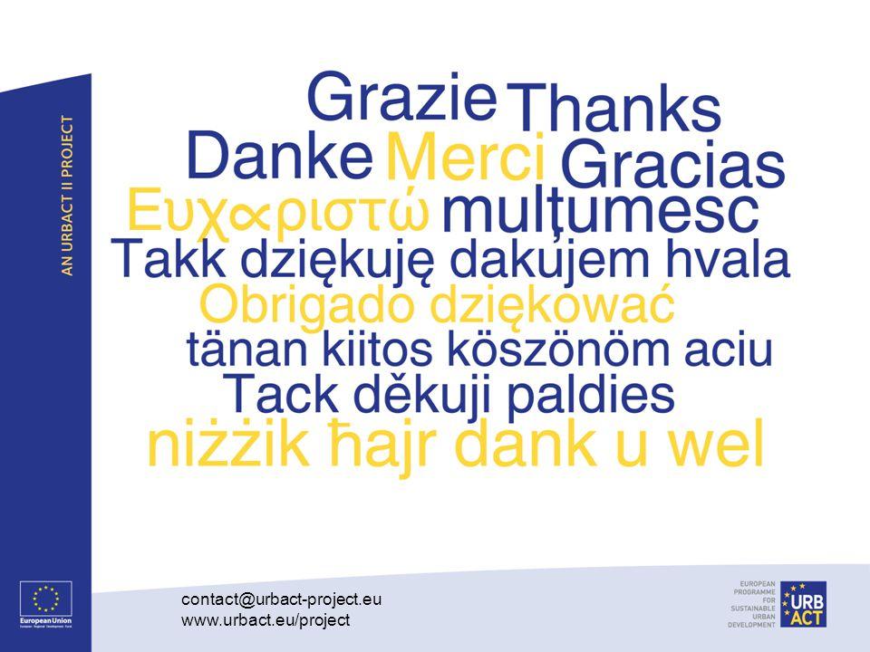 contact@urbact-project.eu www.urbact.eu/project