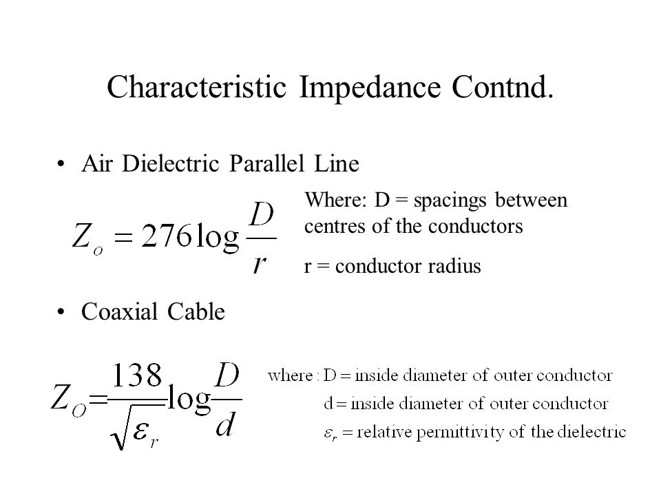 Traveling Waves Along A Line Assume a matched line and a sinusoidal signal source.