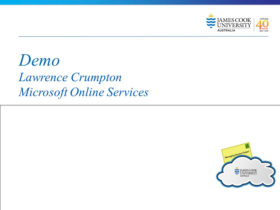 Demo Lawrence Crumpton Microsoft Online Services