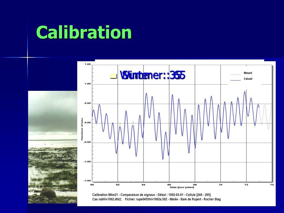 Calibration Winter : 35 Winter : 35 Summer : 65 Summer : 65