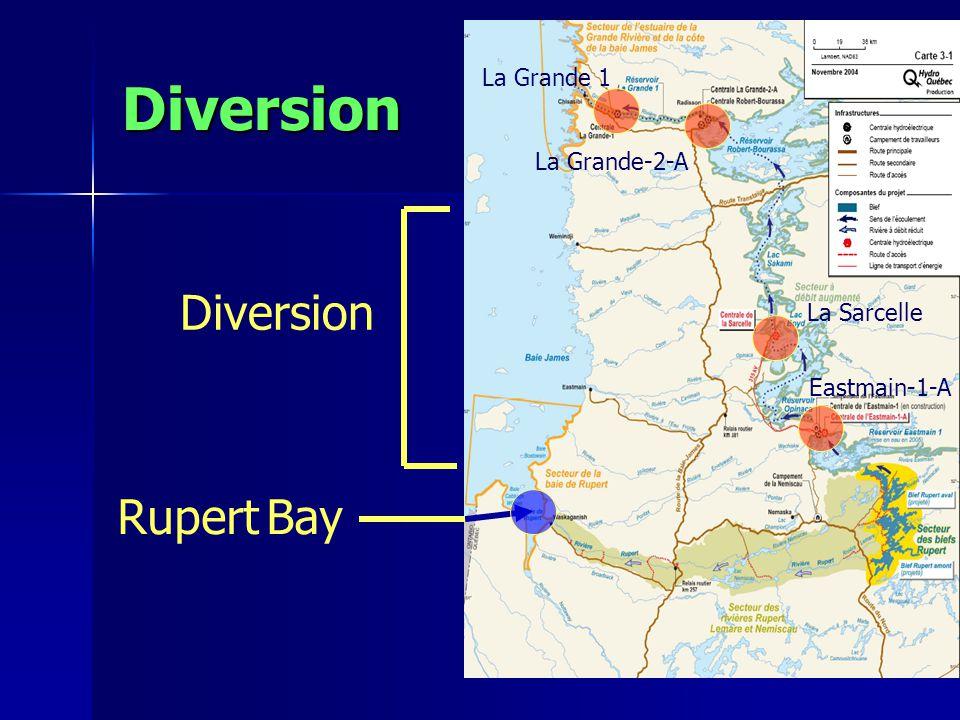 Diversion Rupert Bay Diversion Eastmain-1-A La Sarcelle La Grande-2-A La Grande 1