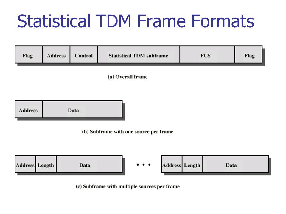 Statistical TDM Frame Formats