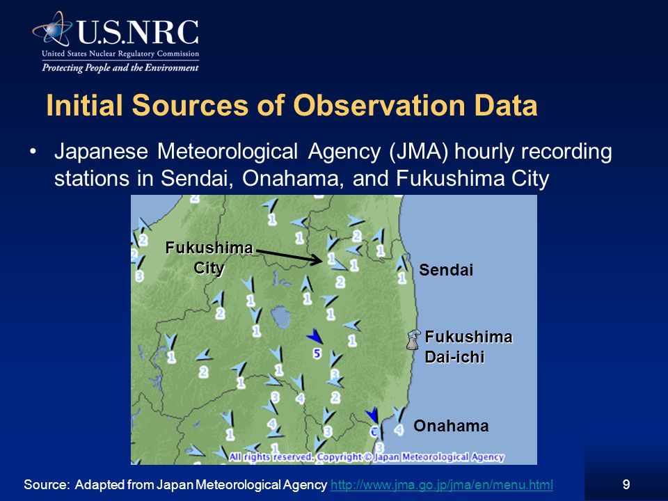 10 Initial Sources of Observation Data (Cont.) Hourly Observations for Sendai Meteorological Observatory Source: Japan Meteorological Agency http://www.jma.go.jp/jma/en/menu.htmlhttp://www.jma.go.jp/jma/en/menu.html