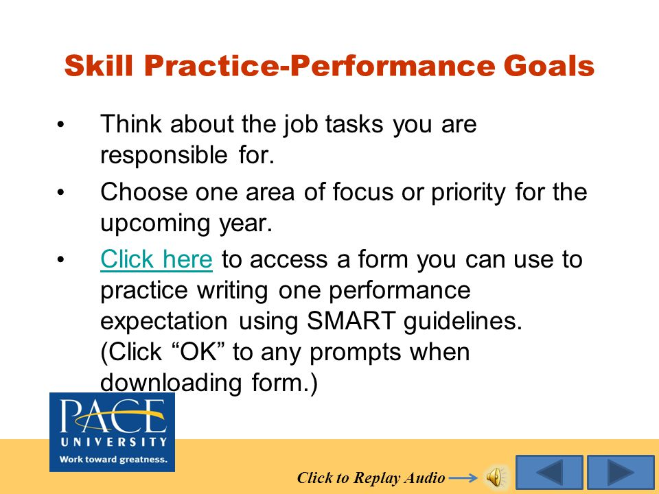 Other Performance Expectations Relate to the ongoing functions and tasks of your position. Encompass many of the activities necessary to successfully