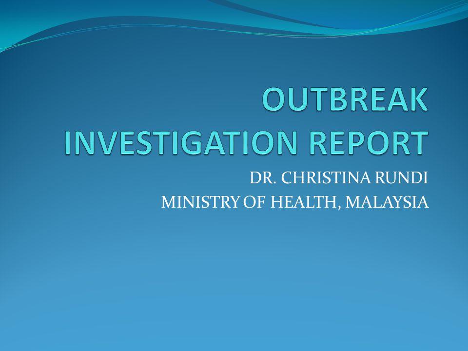 DR. CHRISTINA RUNDI MINISTRY OF HEALTH, MALAYSIA