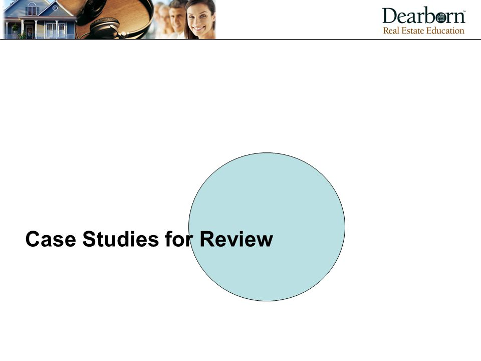 Case Studies for Review