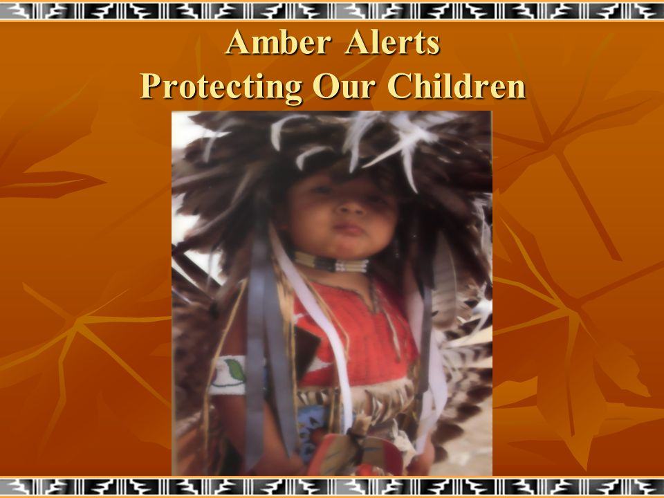 What is an Amber Alert Plan.