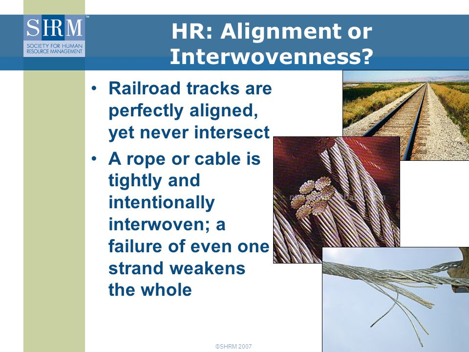 ©SHRM 2007 HR: Alignment or Interwovenness.