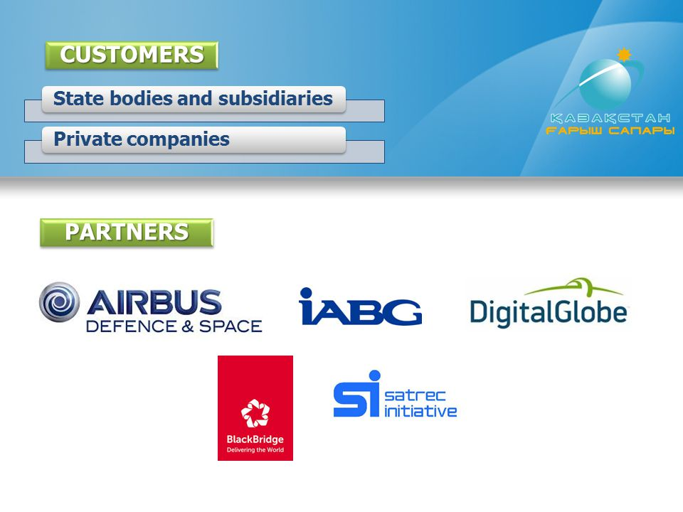 State bodies and subsidiariesPrivate companies PARTNERSCUSTOMERS