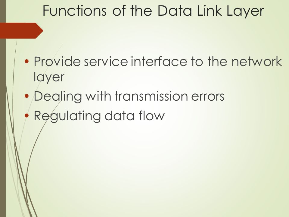 Services Provided to Network Layer (a) Virtual communication.