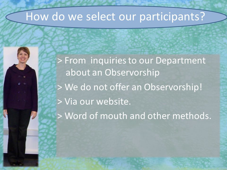 7/27/2010 Participant Evaluation  Performance Assessments o Communications skills o HPS Lab session o OSCE o 'Morning Report'  Faculty session leaders wrote assessment for each participant o 'Morning Report' chart notes graded o OSCE write-ups graded o Faculty's assessments combined and sent to participants  Point of performance evaluations: communications