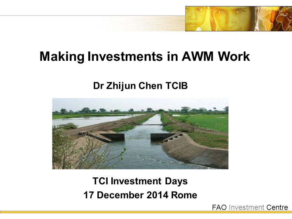 FAO Investment Centre  Introduction  Multiple challenges  New demands  How to invest