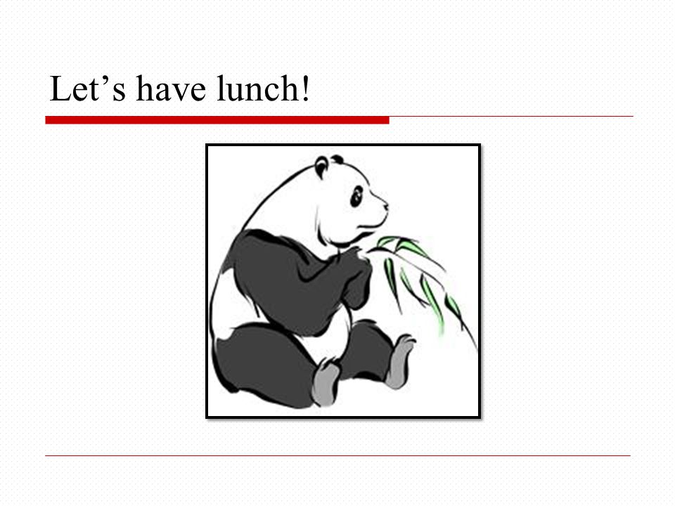 Let's have lunch!