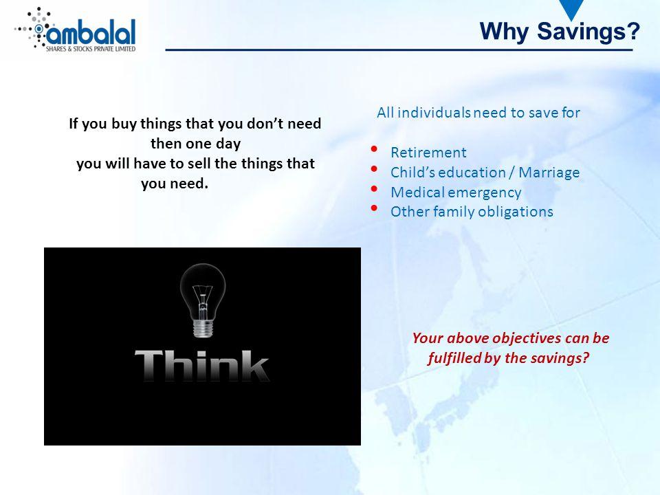 Why Savings.