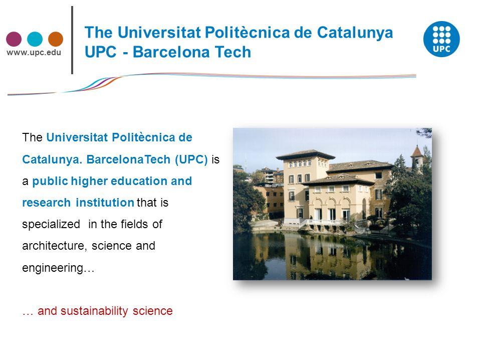 www.upc.edu The Universitat Politècnica de Catalunya.