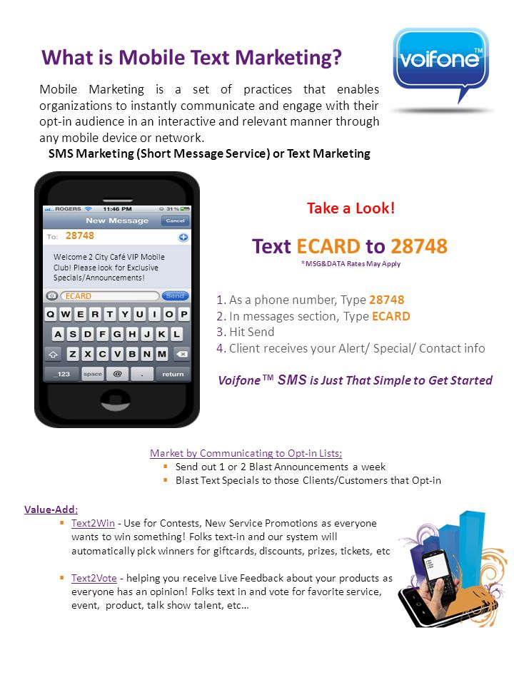 What is Mobile Text Marketing.