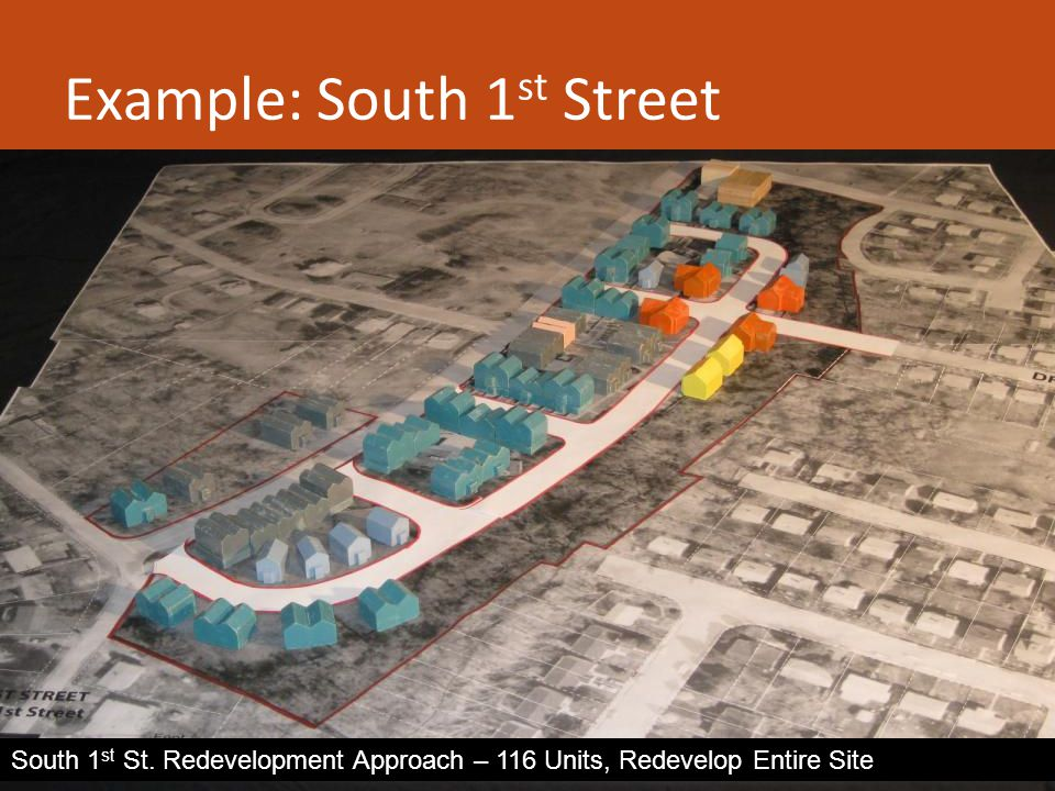 Example: South 1 st Street South 1 st St.