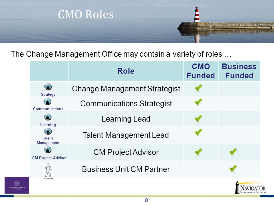 19 The CMO in Action – Northwestern University What model is right for you.