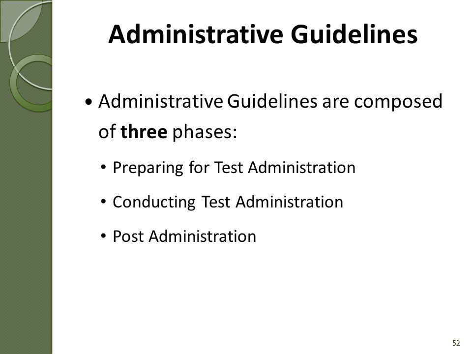 Administrative Guidelines [Handout #9] 51