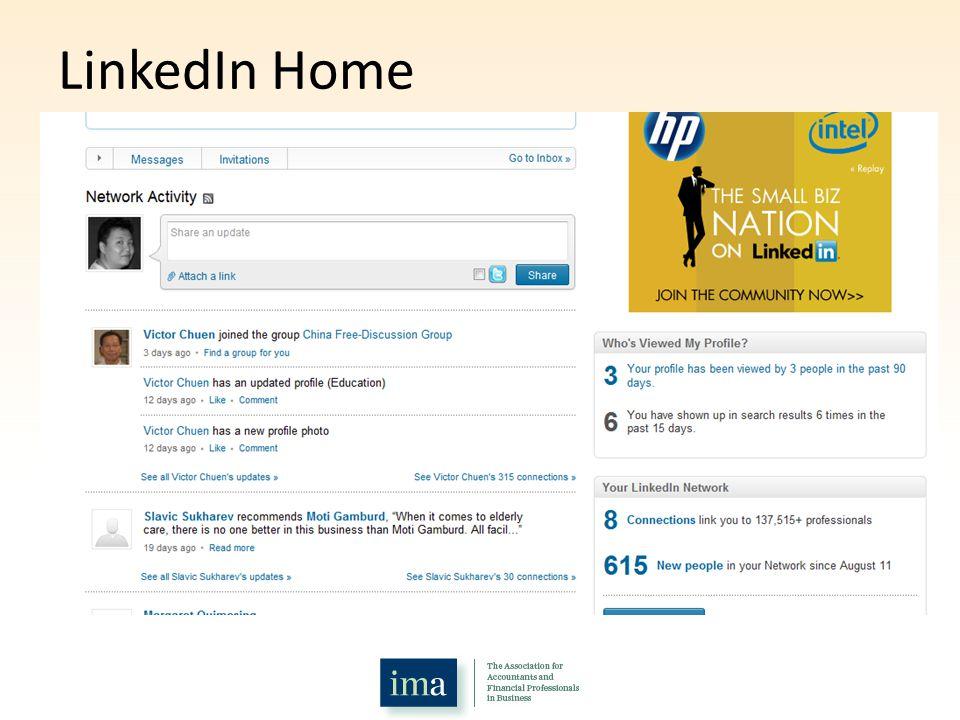 LinkedIn Home