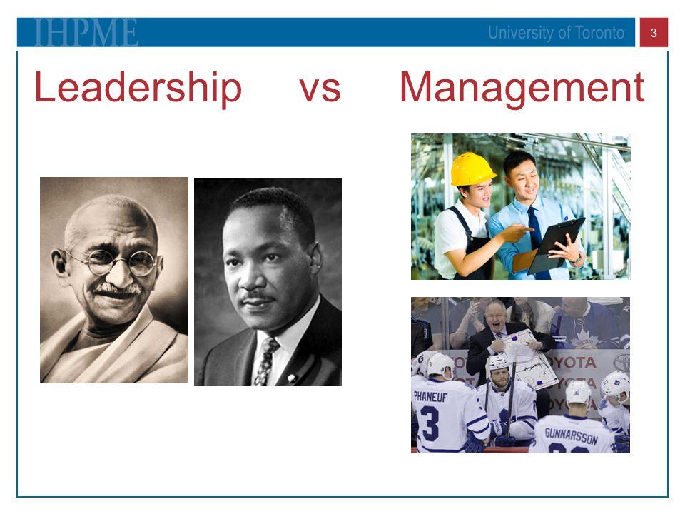 3 Leadership vs Management