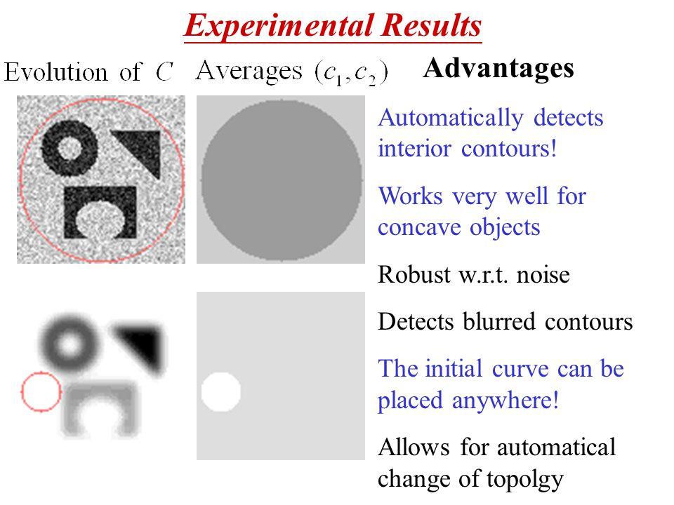 Advantages Automatically detects interior contours.