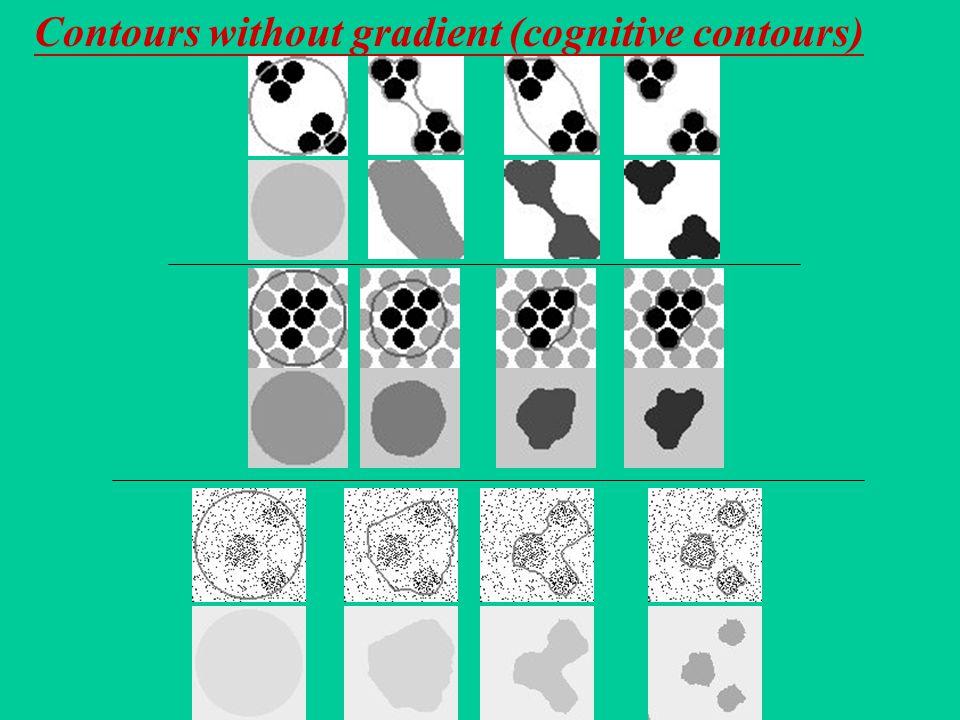 Contours without gradient (cognitive contours)