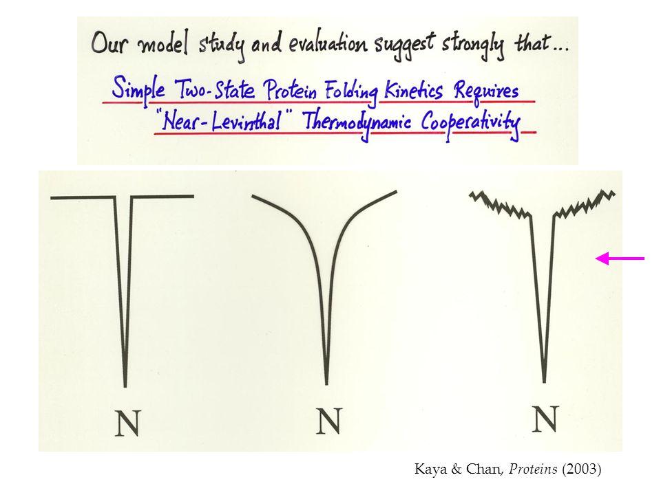 Kaya & Chan, Proteins (2003)