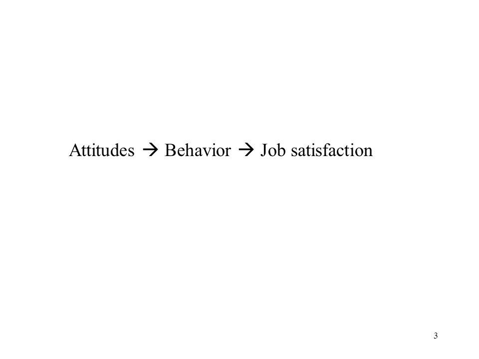 3 Attitudes  Behavior  Job satisfaction