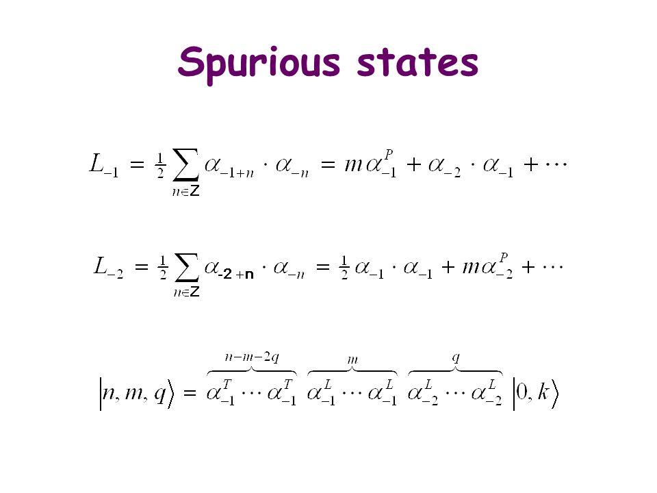 Spurious states