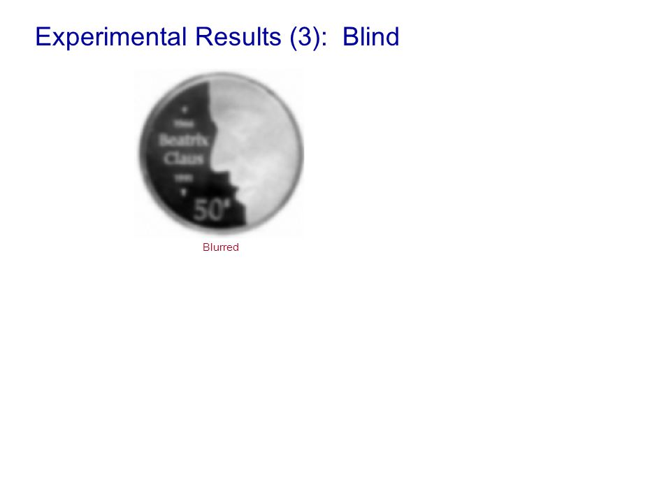 Experimental Results (3): Blind Blurred