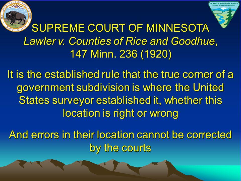 SUPREME COURT OF MINNESOTA Cogan v.Cook, 22 Minn.