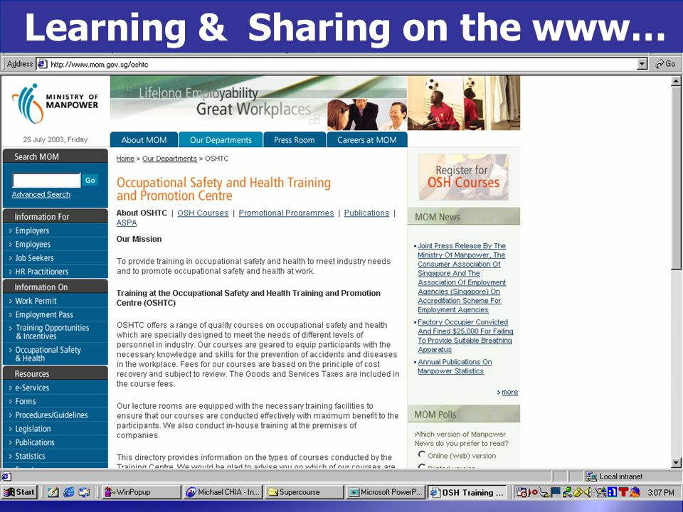 Learning & Sharing on the www…