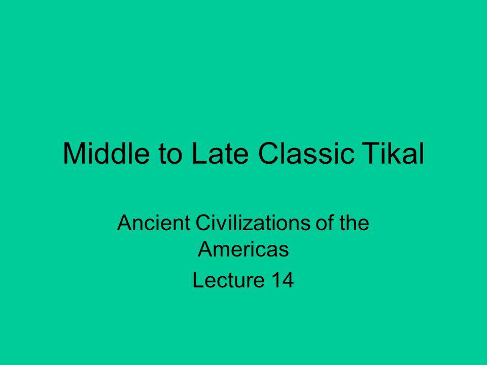 556 AD Tikal initiates an axe war against its former client kingdom Caracol.