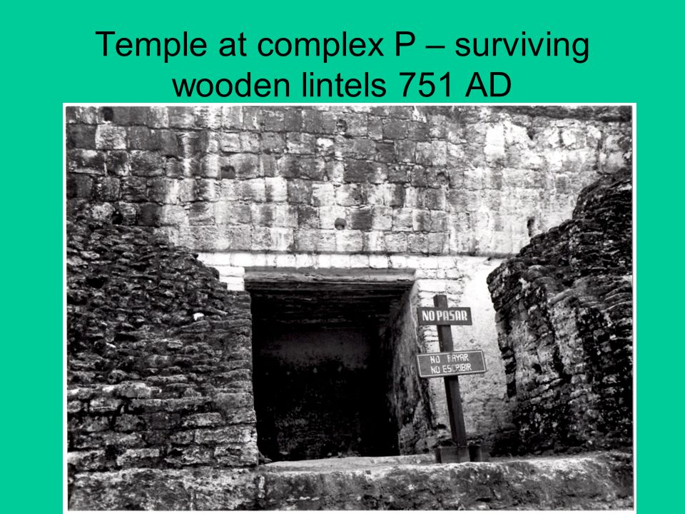 Temple at complex P – surviving wooden lintels 751 AD