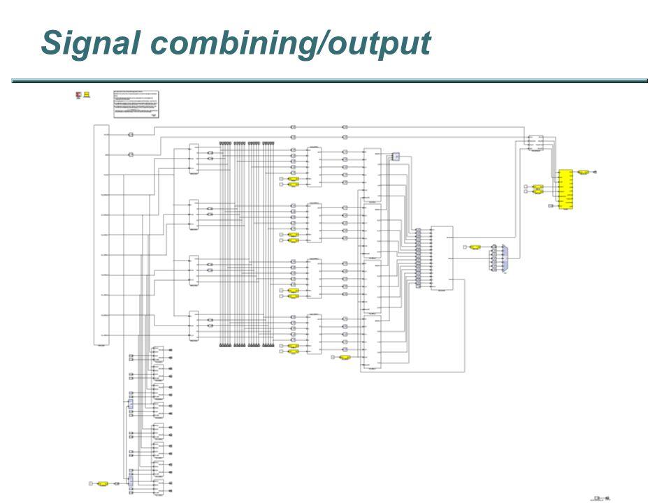 Signal combining/output