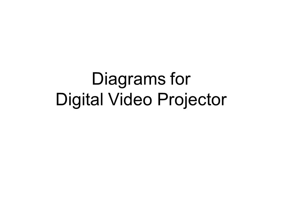 Diagrams for Digital Video Projector