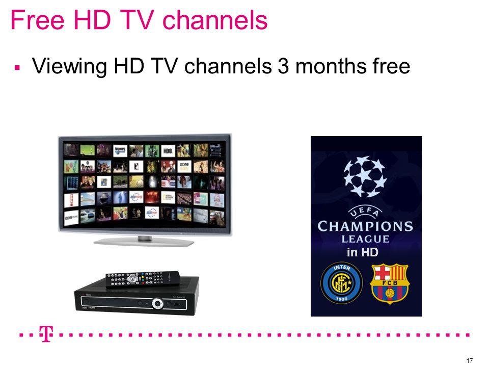 Free HD TV channels 17  Viewing HD TV channels 3 months free in HD