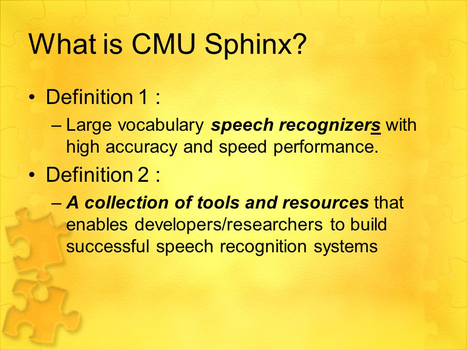 What is CMU Sphinx.