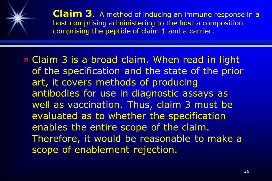 26 Claim 3.