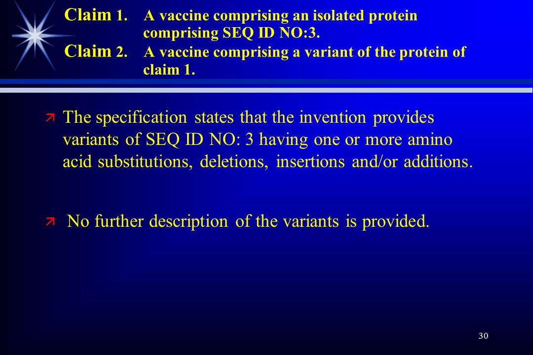 30 Claim 1. A vaccine comprising an isolated protein comprising SEQ ID NO:3.