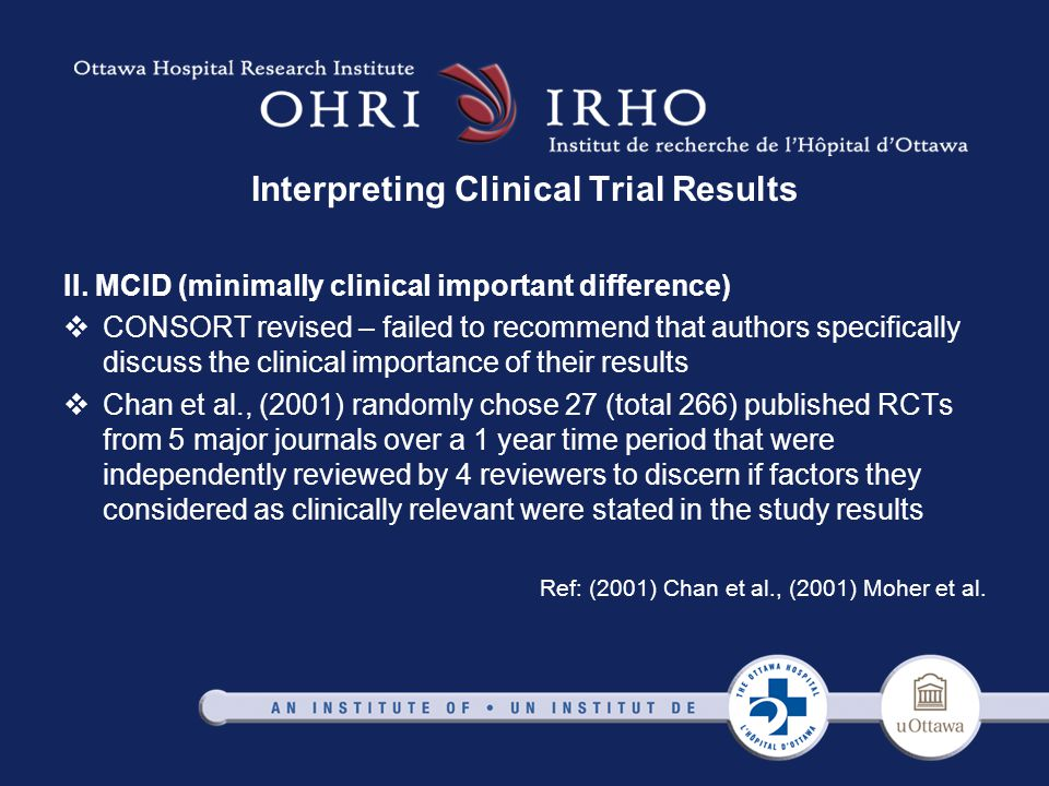 Interpreting Clinical Trial Results II.