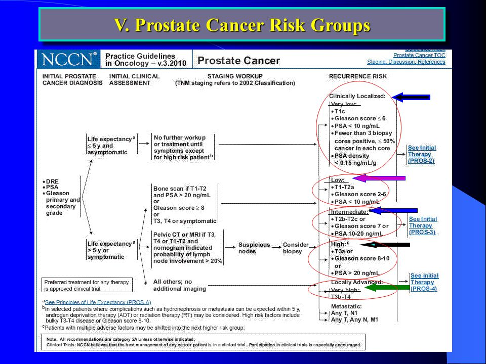 V. Prostate Cancer Risk Groups