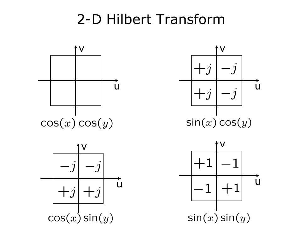 2-D Hilbert Transform u v u v u v u v