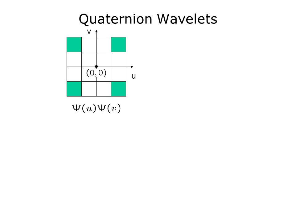 Quaternion Wavelets v u