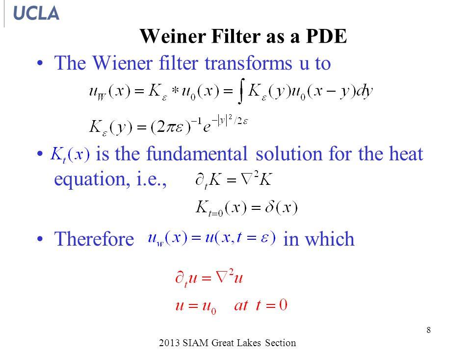 Denoising by Rudin-Osher PDE Variational principle for noise removal –L.